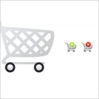 Link toCartoon shopping cart icon psd layered