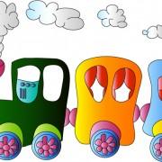 Link toCartoon small train cute vector free