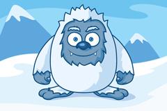Link toCartoon snow monster design vector