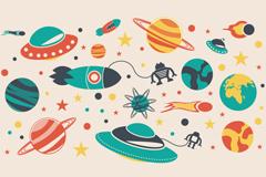 Link toCartoon space adventure vector illustration
