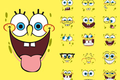 Link toCartoon spongebob squarepants changeable expression vector