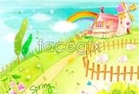 Link toCartoon spring flowers vector