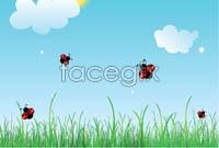 Link toCartoon spring scenery vector