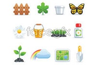 Link toCartoon spring theme icon vector