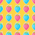 Link toCartoon strawberry background vector
