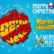 Link toCartoon style christmas and new year design vector