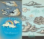 Link toCartoon style clouds vector