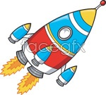 Link toCartoon style rocket vector