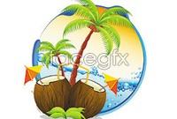 Link toCartoon summer coast landscape vector graphics