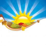 Link toCartoon summer sun vector background 04 free