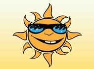 Link toCartoon sun vector free
