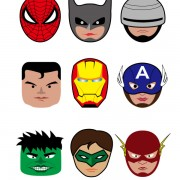 Link toCartoon superheroes head portrait vector free