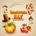 Link toCartoon thanksgiving icons vector