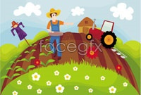 Link toCartoon three farm vector
