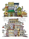 Link toCartoon town house vector