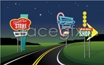 Link toCartoon traffic signs vector