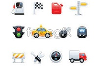 Link toCartoon traffic topic icon vector