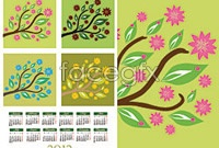 Link toCartoon tree calendar template vector