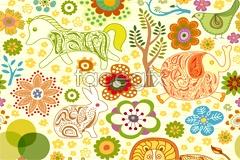Link toCartoon tree flowers vector