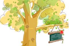 Link toCartoon trees and billboards vector