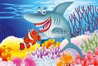 Link toCartoon underwater landscape vector ii