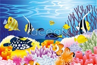 Link toCartoon underwater landscape vector iii