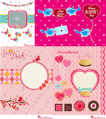 Link toCartoon valentine's day cards vector