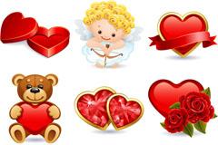 Link toCartoon valentine's day icon vector