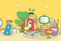 Link toCartoon vector background scientific and technical information
