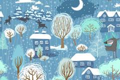 Link toCartoon village moonlight vector illustration