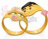 Link toCartoon wedding gold ring vector