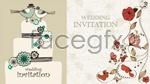 Link toCartoon wedding invitation cards vector