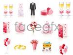 Link toCartoon wedding jewelry vector