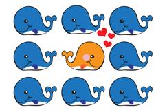 Link toCartoon whale design vector