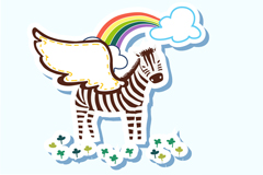 Link toCartoon winged zebra vector
