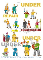 Link toCartoon worker and tools vector