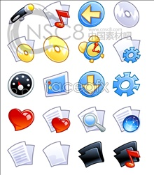 Cartoon xp system icons