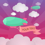 Link toCartoon zeppelins text vector