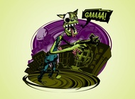 Link toCartoon zombie wolf vector free