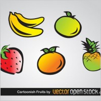 Link toCartoonish fruits vector