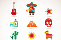 Link toCartoons mexico featured icon vector