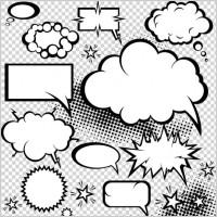Link toCartoonstyle mushroom cloud dialog 05 vector