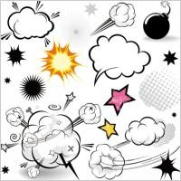Link toCartoonstyle mushroom cloud layer 01 vector