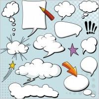 Link toCartoonstyle mushroom cloud layer dialog 04 vector