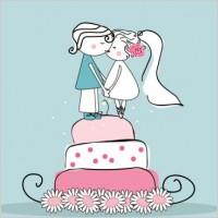 Link toCartoonstyle wedding elements 02 vector