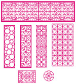 Link toCarved openwork lattice pattern vector