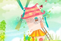 Link toCastle of cute cartoon vector graphics