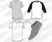 Link toCasual t-shirts and shoes vector
