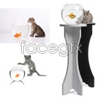 Link toCat and goldfish psd