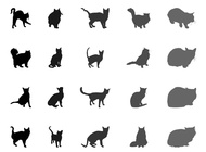 Link toCat silhouettes set vector free